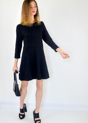 Mark&spencer черное платье - трапеция с длинным рукавом 3\4 и ...