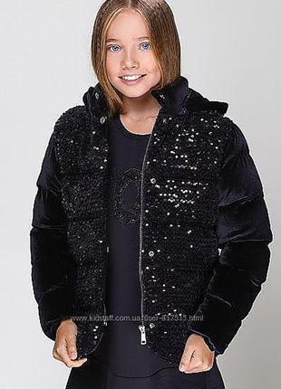 Крутая куртка в пайетку для девочки  италия