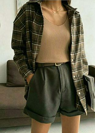 Шикарные шорты с высокой посадкой