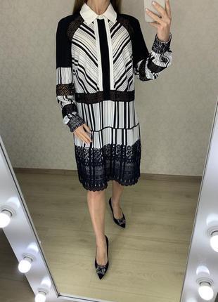 Платье-рубашка с кружевом rochelle humes