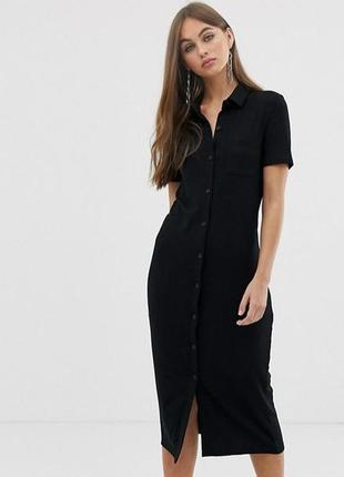 #розвантажуюсь хлопковое базовое платье рубашка h&m