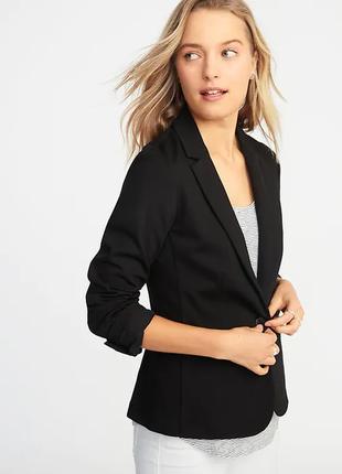 Брендовый черный пиджак жакет с карманами gap вьетнам вискоза ...