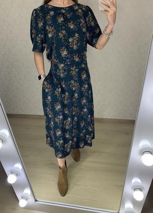 Платье миди в цветах next