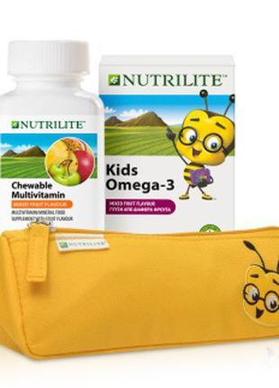 Набір для діте: Омега-3 , Мультивітамін,пенал у подарунок.