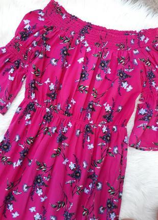 Красивое летнее платье в цветочный принт раз.l