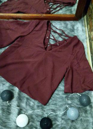 #розвантажуюсь блуза кофточка с v-образным вырезом и шнуровкой...