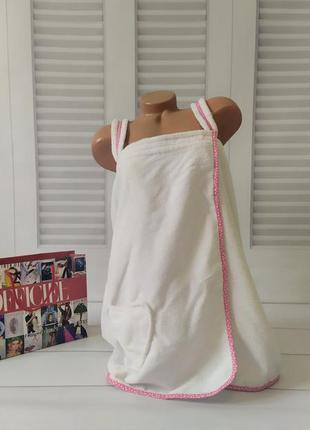 Полотенце халат белого цвета, m