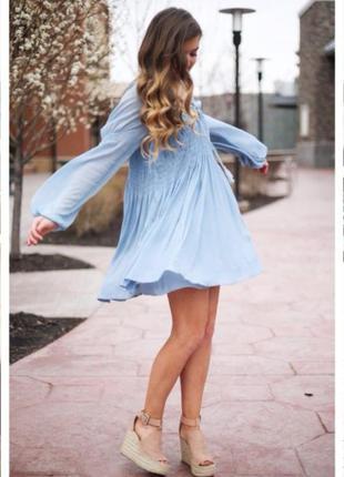 Воздушное платье рубашка из натуральной ткани