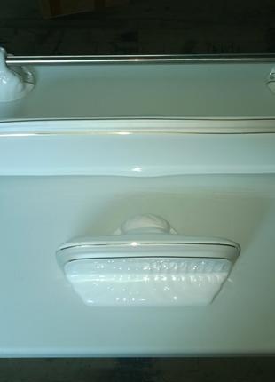 Набор аксессуаров для ванной керамические серый золото