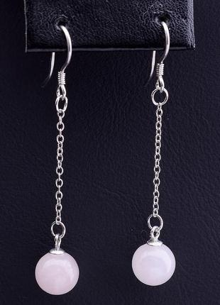 Серьги 'sunstones' розовый кварц серебро(925) 0790580