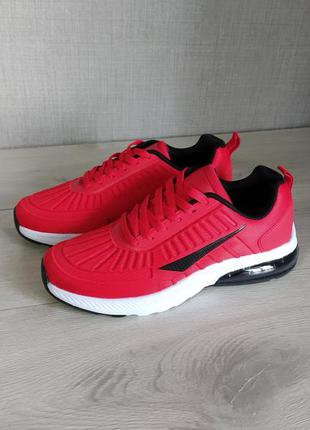 Кроссовки air max red & white
