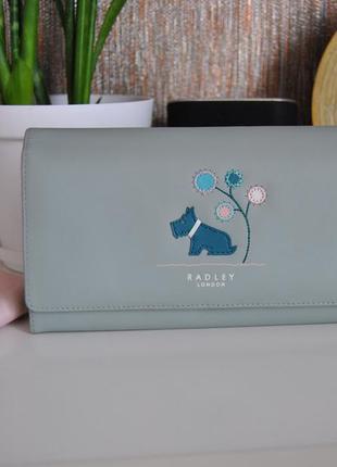 Кожаный кошелек radley / шкіряний гаманець