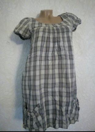 Рубашка платье с карманами