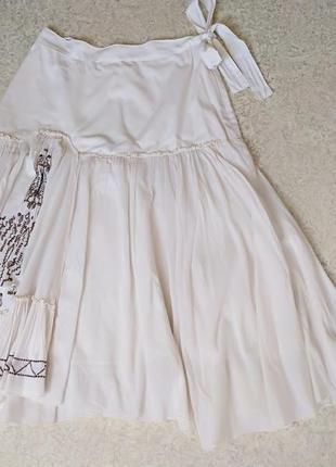 Вышитая юбка натуральная
