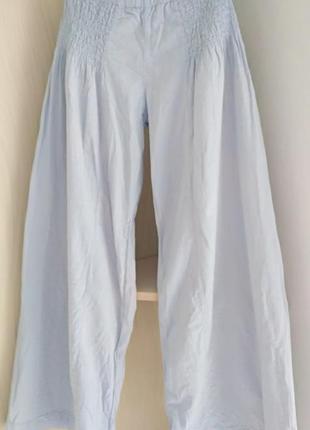 Женские широкие летние брюки