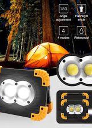 Фонарь прожектор 20W LL811+Power Bank IP55 Super Bright LED