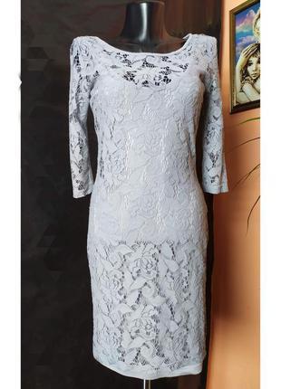 Вечернее гипюровое платье-миди от warehouse