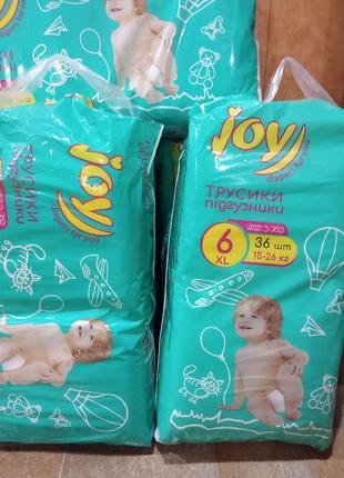 Продам подгузники-трусики Joy размер 6