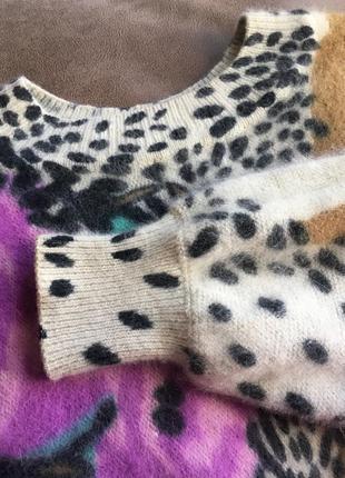 Ангоровая удлинённая кофта реглан фасон летучая мышь