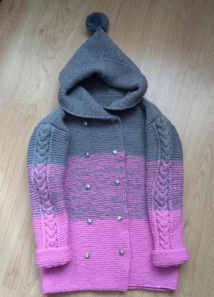 Детское пальто дюффель с градиентом