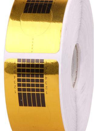 Формы для наращивания ногтей золотые узкие