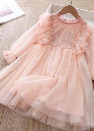 Нежное нарядное платье для принцессы