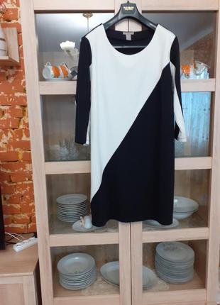 Шикарное комбинированное платье большого размера