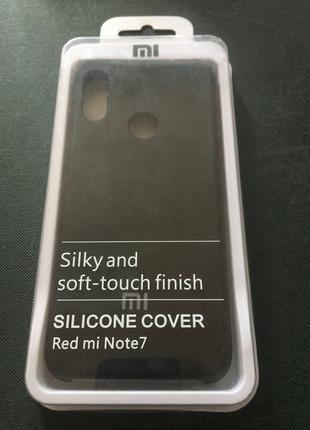 Чехол Xiaomi Redmi Note 7 черный