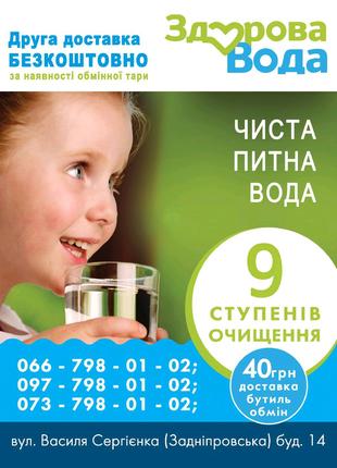 Доставка воды Запорожье