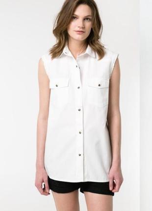 Джинсовая рубашка mango