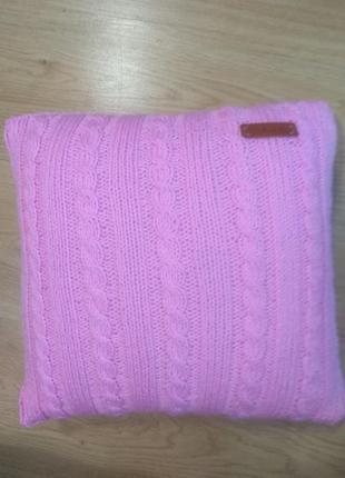 Вязаная наволочка handmade на подушку