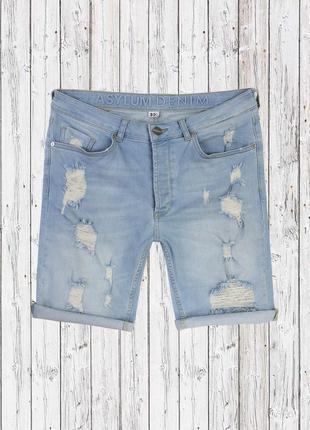 Стреичевые джинсовые шорты asylum