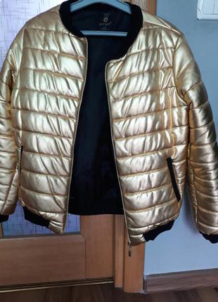 Шикарная золотая курточка