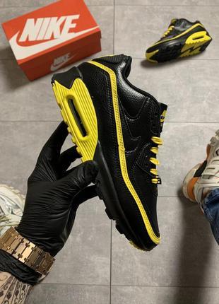 Кроссовки мужские nike air max 90 black yellow
