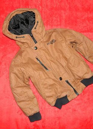 Куртка детская демисезонная коричневая на мальчика 5 лет next