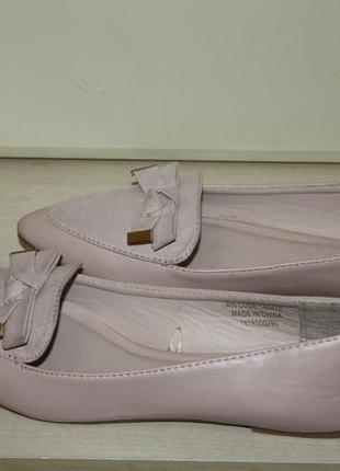 Туфли лодочки пудрового цвета. балетки