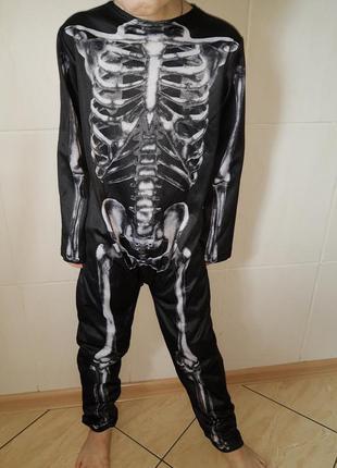 Карнавальный костюм скелет на хэллоуин на 7-8 лет