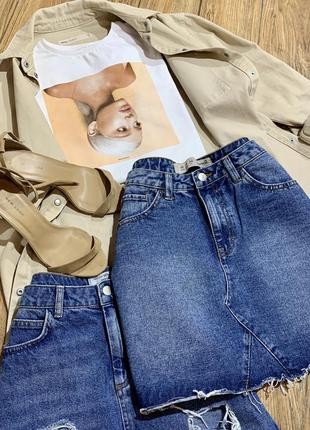Юбка джинсовая трапецией denim&co
