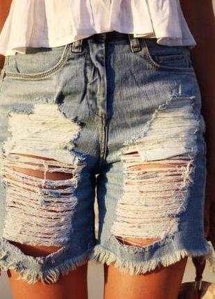 Крутые рваные шорты/джинсовые шорты/шорты/бриджи/штаны/брюки/