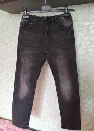 Джинсы скинни мальчику потёртые модные стильные брюки