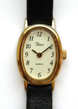 Timex винтажные часы из сша кожаный ремешок сборка virgin island