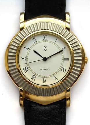 Paul sebastian мужские часы из сша кожаный ремешок