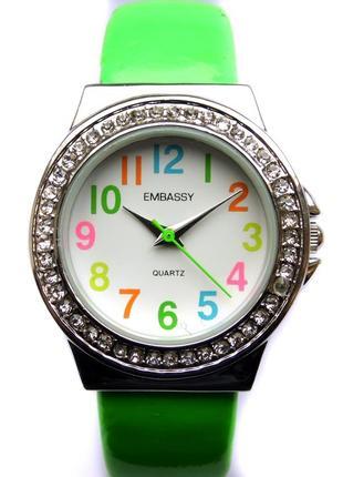 Embassy by gruen стильные часы-браслет из сша мех. japan