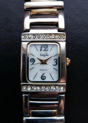 Vanity fair винтажные часы из сша с кристаллами мех. japan sii