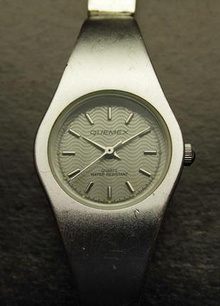 Quemex стальные ретро часы из сша волнистый циферблат мех. jap...