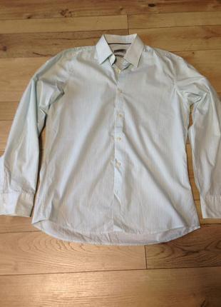 Мужская рубашка с длинным рукавом slim line