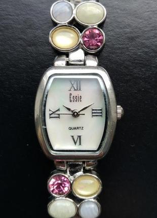 Essie часы из сша перламутровый циферблат мех.japan miyota