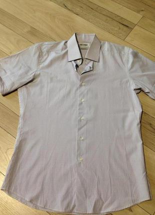 Мужская рубашка с коротким рукавом slim fit