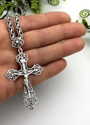 Крест серебро 925 крестик 3603