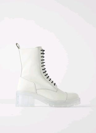 Zara жіночі шкіряні черевики